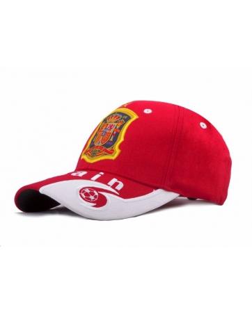 кепка испания спортивная красная