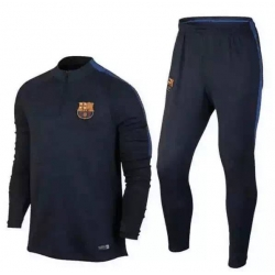 для детей спортивный костюмы барселоны Barcelona 2016 2017 темно синий