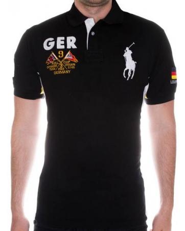 футболка поло мужская черная поло ральф лаурен оригинал
