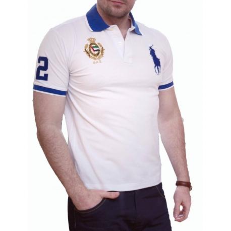 Футболка поло белая мужская | polo ralph lauren | купить