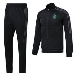 Real madrid tracksuit black real madrid anthem