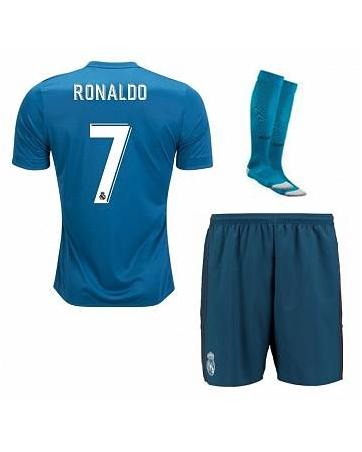 children white long sleeve Real Madrid jersey