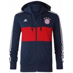 Олимпийка куртка баварии 2018 темно синяя