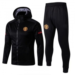 с капюшоном cпортивные костюмы Манчестер юнайтед черный
