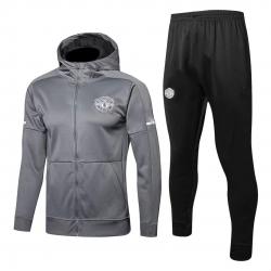 с капюшоном cпортивные костюмы Manchester United серый