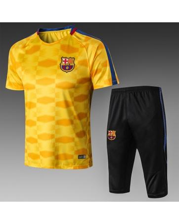 Тренировочный костюм Барселона 2018 2019 желтый