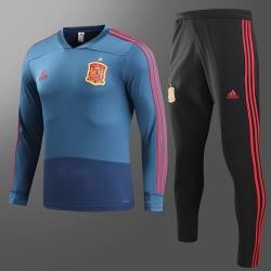 детский тренеровочный костюм Испании темно синий 2018 2019