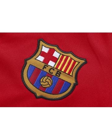 Барселона детский тренеровочный костюм красный 2018 2019