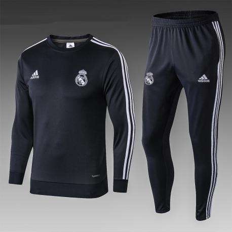Реал мадрид детский тренеровочный костюм черный 2018 2019
