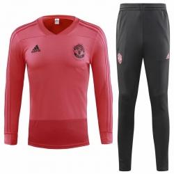 Детский Тренировочный костюм Манчестер юнайтед 2018 2019 розовый