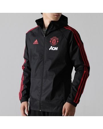Куртка ветровка Manchester United черный 2018 2019