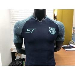 Новотехнологичная футболка Barcelona 2018 темно синий