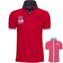 branded polo shirt red