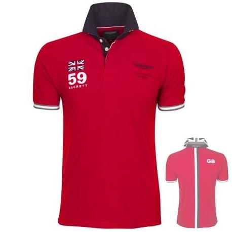 фирменная футболка поло красная